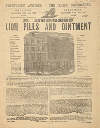 Advert For E. Burgess, Lion Pills & Ointment